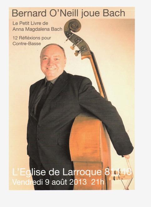 Bernard O'Neill en concert à Larroque