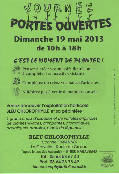 Portes Ouvertes Bleu Chlorophylle Rabastens (81)
