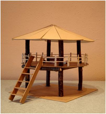 Maquette de cabane - Denis Maria