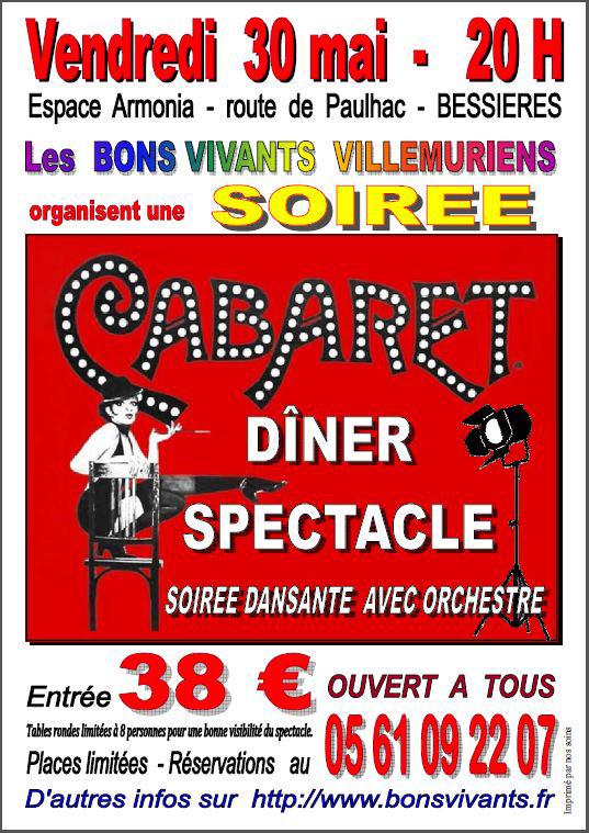 Soirée Cabaret à Bessières