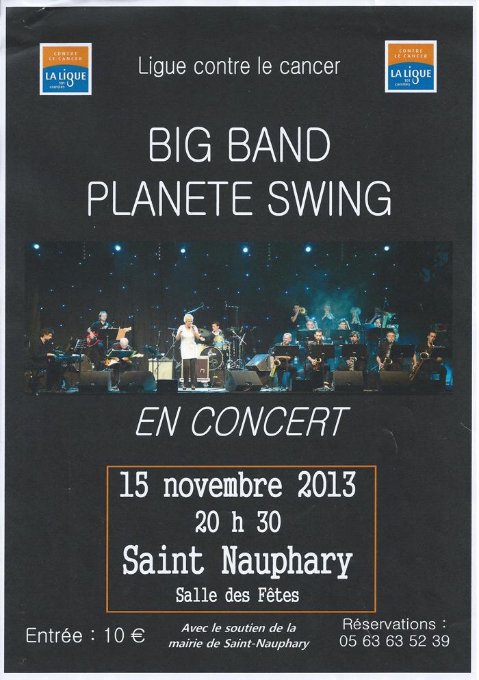 Big Band Planete Swing en concert à Saint-Nauphary (82)