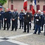 Porte-drapeaux, élus, Sapeurs-Pompiers….