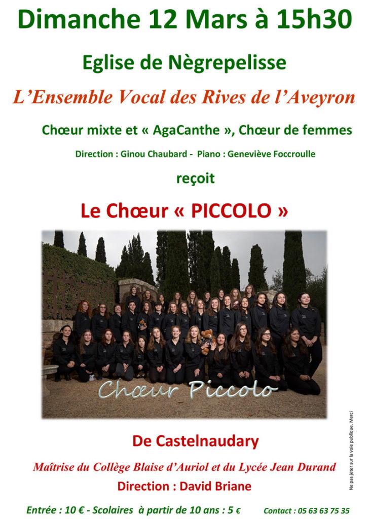 Concert de soutien au chant choral ... à Nègrepelisse (82)