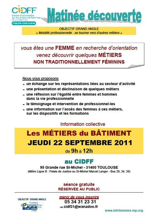 CIDFF. Matinée Info. BATIMENT