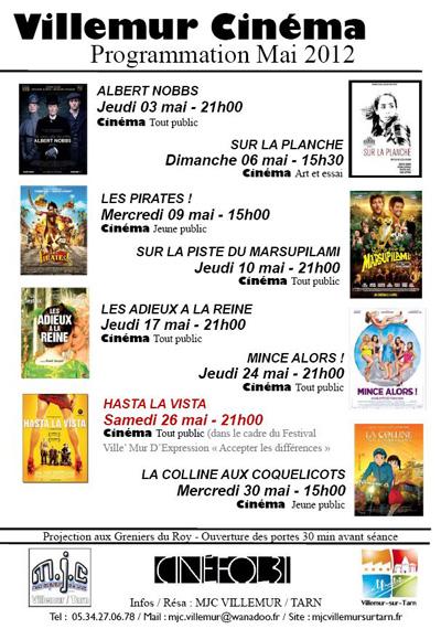 Cinéma Villemur sur Tarn Mai 2012