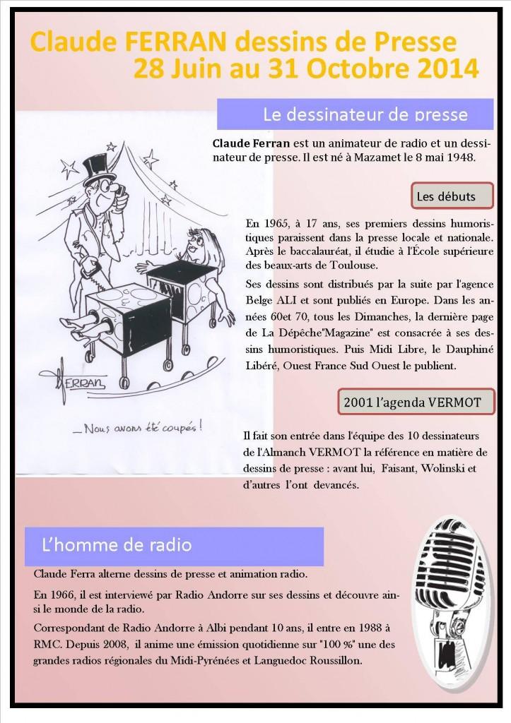 Claude FERRAN - Dessin de Presse