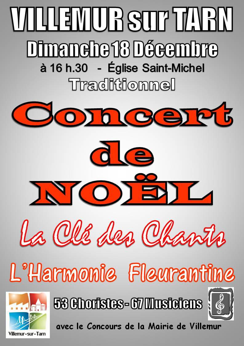 Concert de Noël ... à Villemur sur Tarn (31)