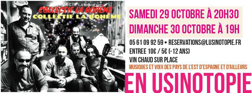 Musique du monde - Collectif la Bohème ... à Villemur sur Tarn (31)