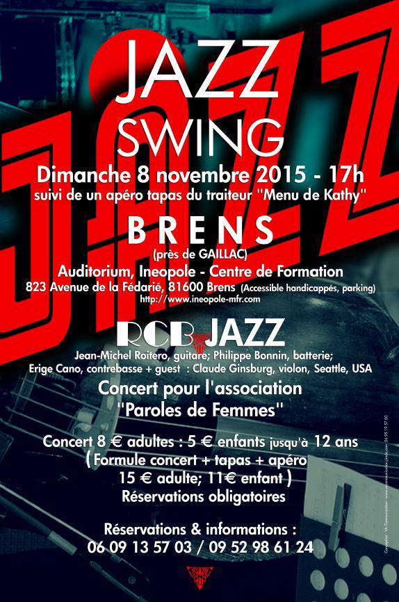 Concert Swing Jazz pour Paroles de Femmes à Brens (81)