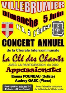 Concert annuel ... à Villebrumier (82)