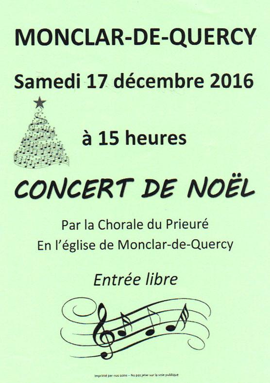 Concert de Noël ... à Monclar de Quercy (82)