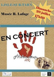 Concert à Lisle sur Tarn (81)