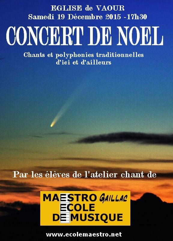 Concert de Noël à Vaour (81)