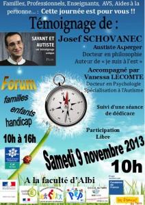 Conférence avec Josef Schovanec à Albi