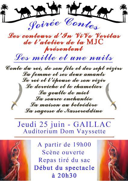 Soirée Conte à Gaillac (81)