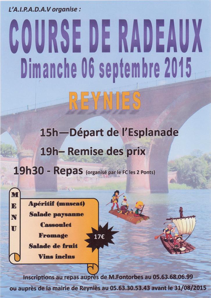 Course de Radeaux à Reyniès (82)