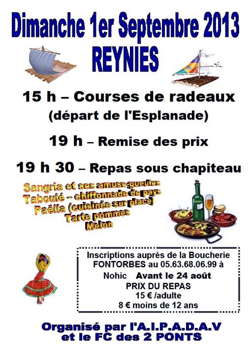 Course de radeaux- Reynies