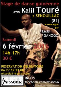 Stage de danse guinéenne avec Kalil Touré à Senouillac (81)