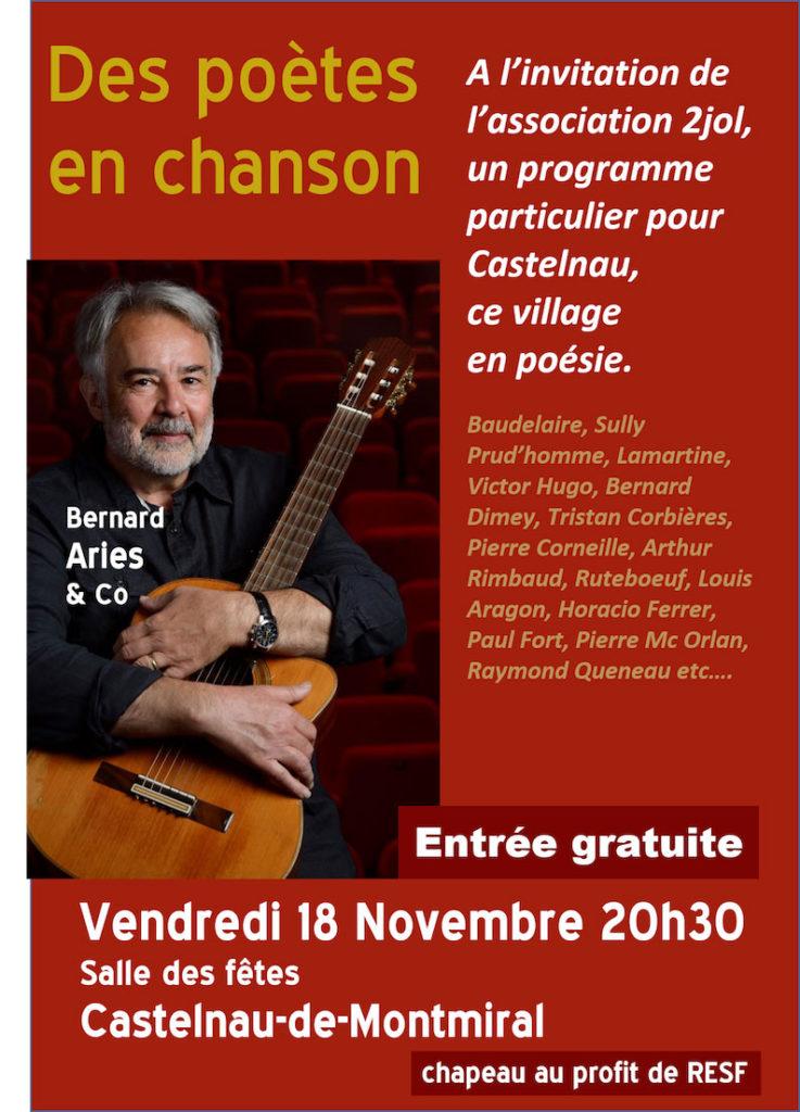 Des poètes en chanson - Benrard ARIES & Co - Castelnau de Montmiral (81)