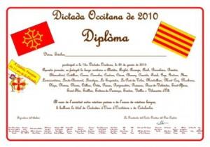 Dictada occitana Diplôme 2010