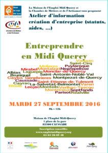 Atelier d'information sur la création d'entreprise ... à Caussade (82)