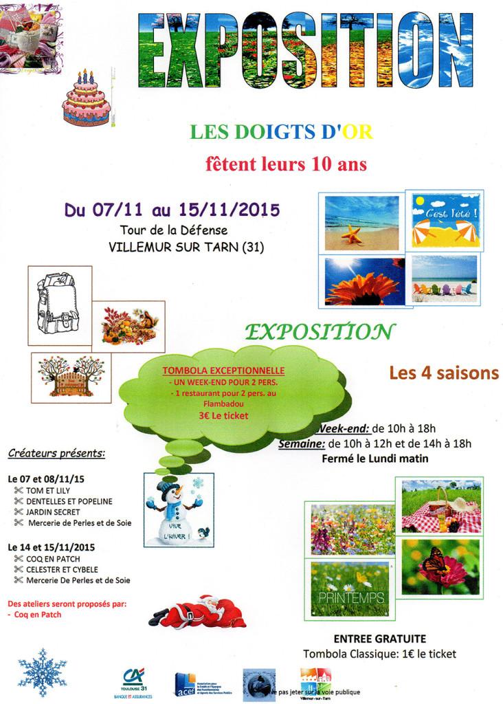 Les Doigts d'Or s'exposent et fêtent leurs 10 ans ! ... à Villemur sur Tarn (31)
