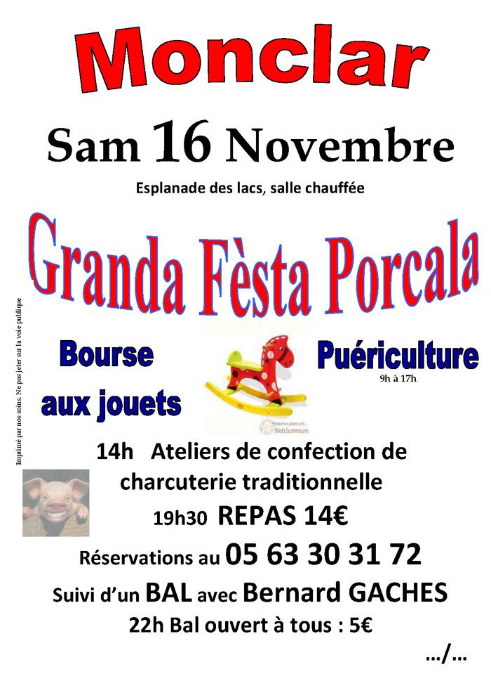 Fèsta Porcala et Bourse aux jouets à Monclar de Quercy 2013