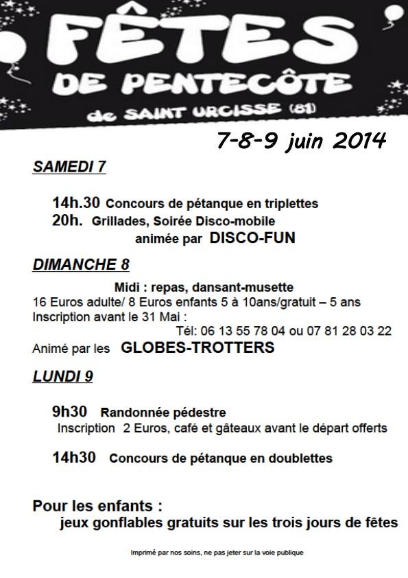 Programme 2014 Saint Urcisse