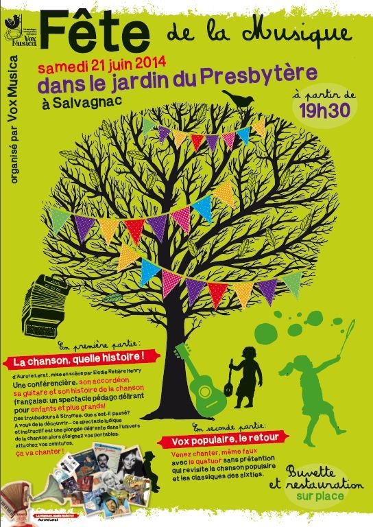 Fête de la Musique organisé par Vox Musica dans le jardin du Presbytère à Salvagnac