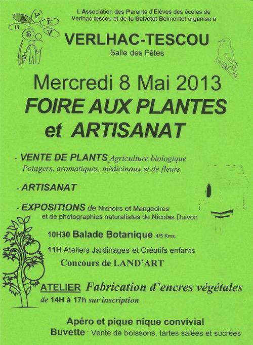 Foire aux Plantes et Artisanat à Verlhac Tescou