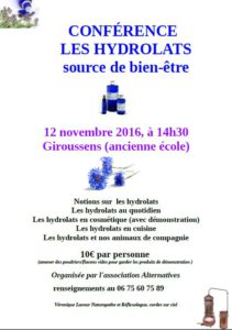 Atelier Hydrolats - Giroussens Alternatives