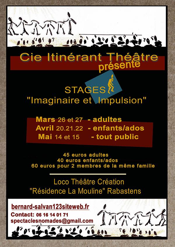 Cie Itinérant Théâtre - Stage 2016