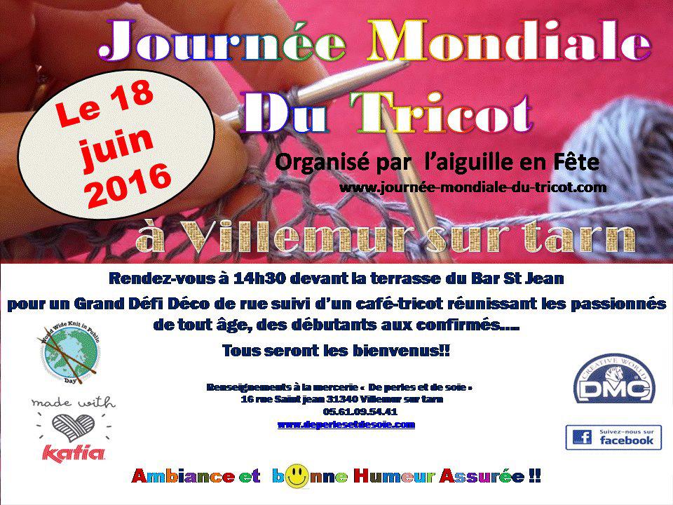 Journée Mondiale du Tricot ... à Villemur sur Tarn (31)