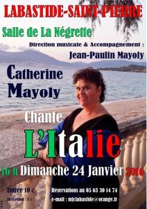 Catherine Mayoly chante l'Italie à Labastide Saint-Pierre (82)