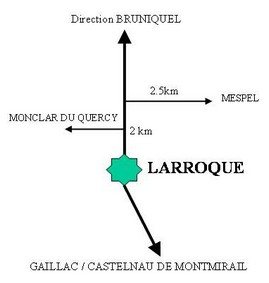 Aller à Larroque et Mespel