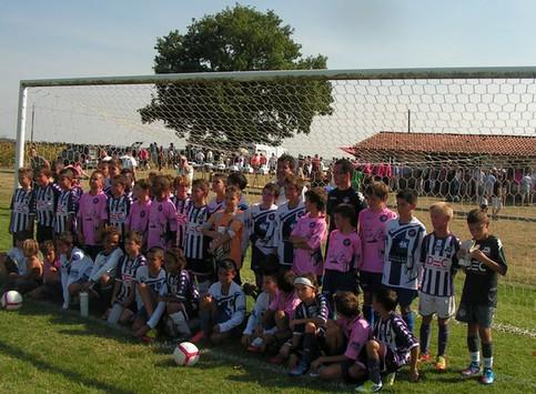 les jeunes footballeurs de Toulouse et d'Albi