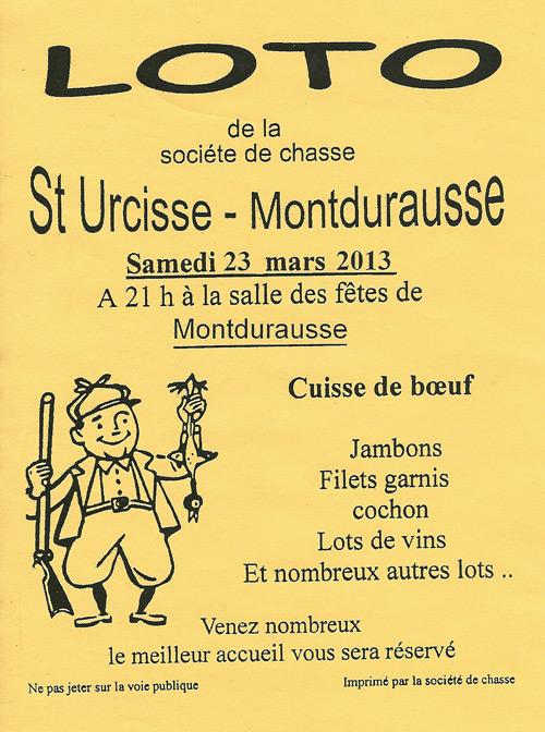 Loto de la Chasse à Montdurausse