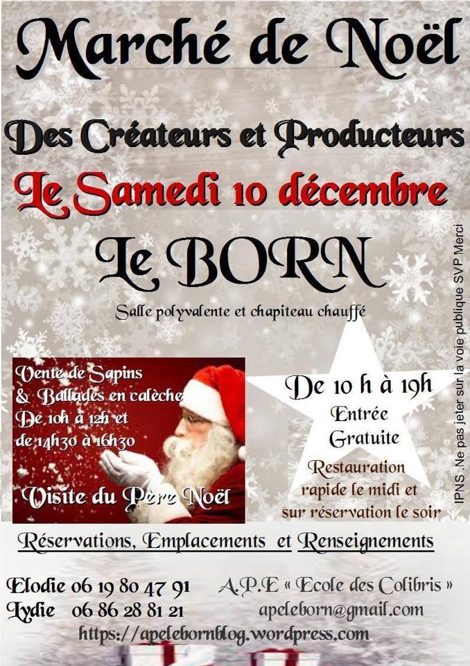 Marché de Noël ... à Le Born (31)