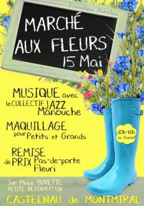 Marché aux Fleurs ... à Castelnau de Montmiral (81)