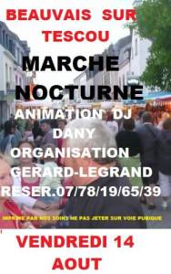 Marché nocturne à Beauvais sur Tescou (81)