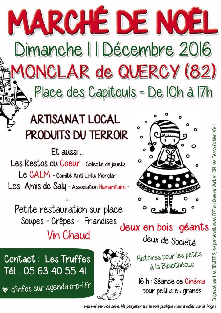 Marché de Noël ... à Monclar de Quercy (82)