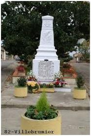 Monument aux morts - Villebrumier (82)