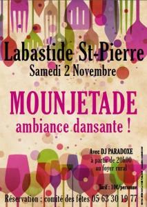 Soirée Mounjetade à Labastide St Pierre (82)