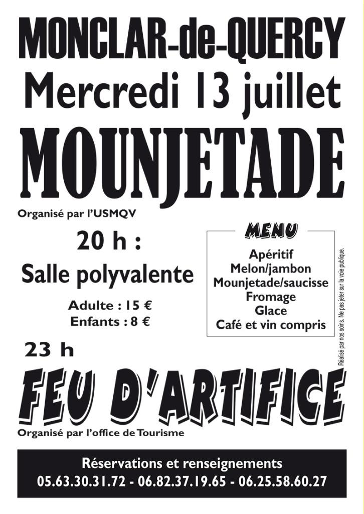 Mounjetade et feu d'artifice ... à Monclar de Quercy (82)