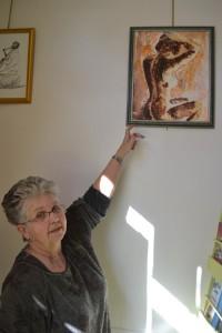 Nadine Grimal-Biallet expose à l'Office de Tourisme