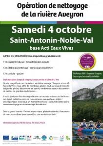 Balade écocitoyenne à Saint Antonin Noble Val (82)