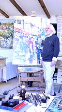 Claude Nicaud dans son atelier de Brousses