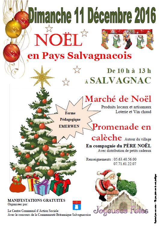 Marché de Noël à Salvagnac (81)