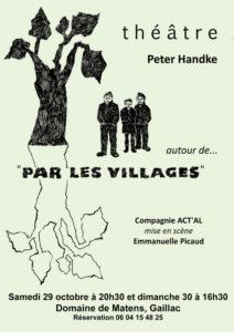 """Théâtre autour de """"Par les villages ..."""" - Domaine de Matens - Gaillac (81)"""