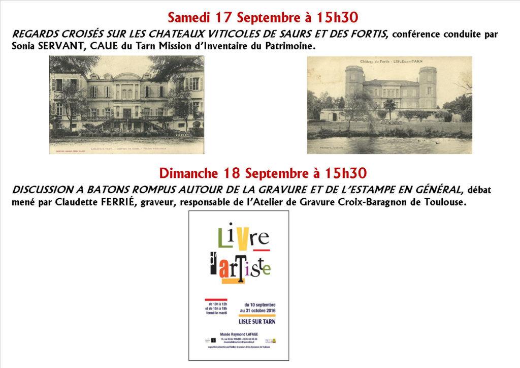 Journées du Patrimoine  à Lisle sur Tarn (81)